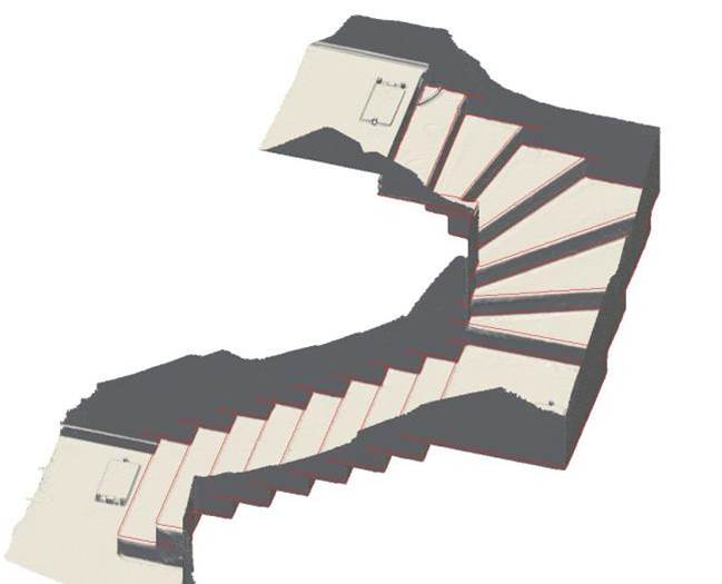 Derived CAD-model of staircase