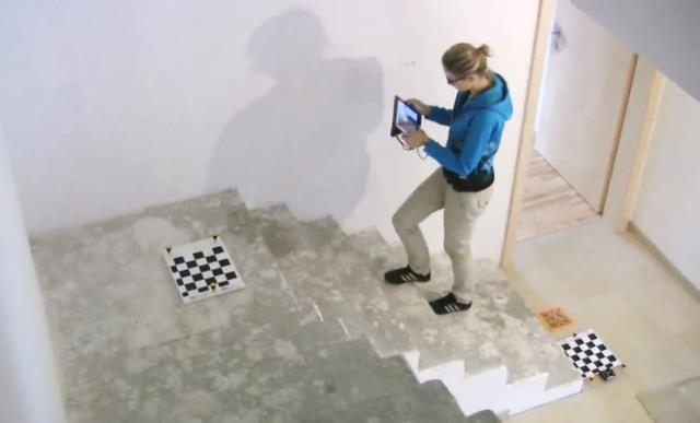 Stair capture process for wood cover modeling