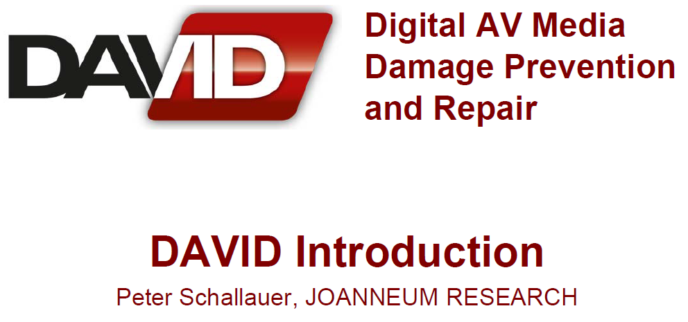 Presentation – DAVID Kick-Off, Graz, Dec. 19/20th 2012