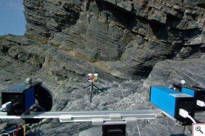 Aberystwyth University PanCam trials at Clarach Bay