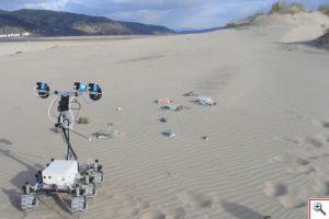 Aberystwyth University Rover trials at Ynyslas beach