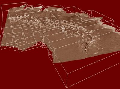 Merging 10 stereo reconstructions of MER Opportunity (ExoMars PanCam 3D Vision Team)