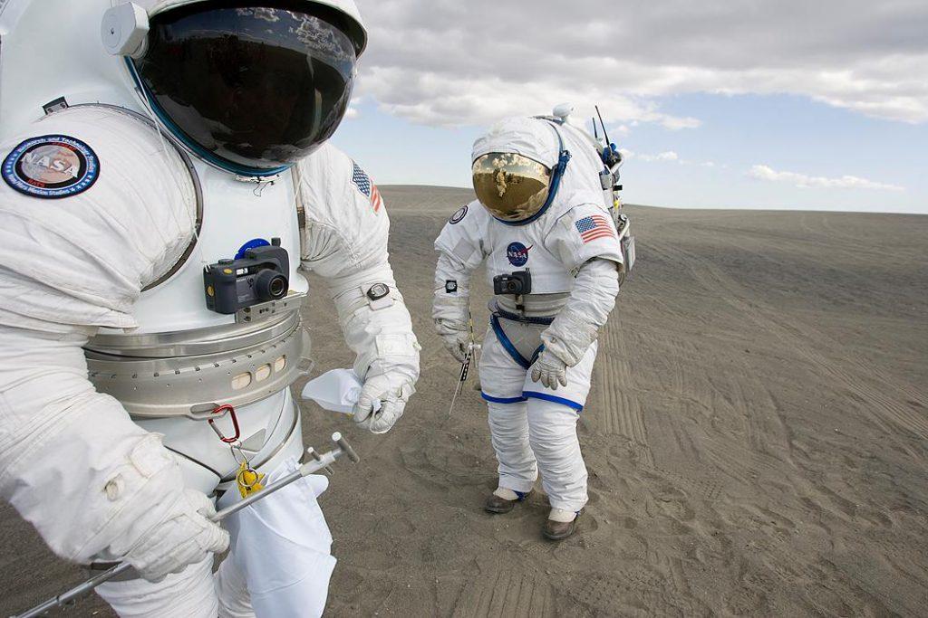 Figure 1: Astronauts are testing the EVA Spacesuit at Moses Lake, WA